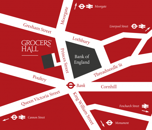 Map of Grocers' Hall