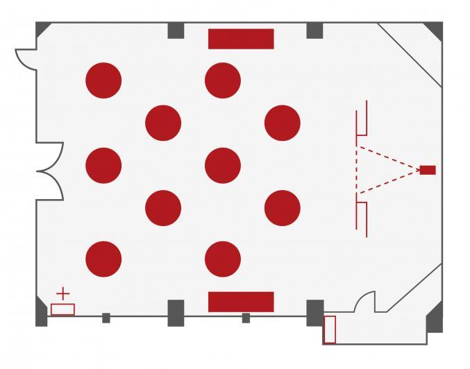 The Piper Room Floorplan