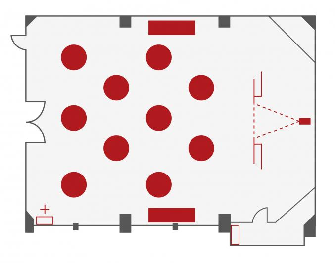 The Piper Room Floorplan