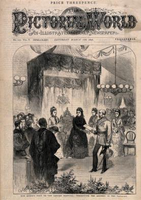 Queen Victoria opens the Grocers' Wing
